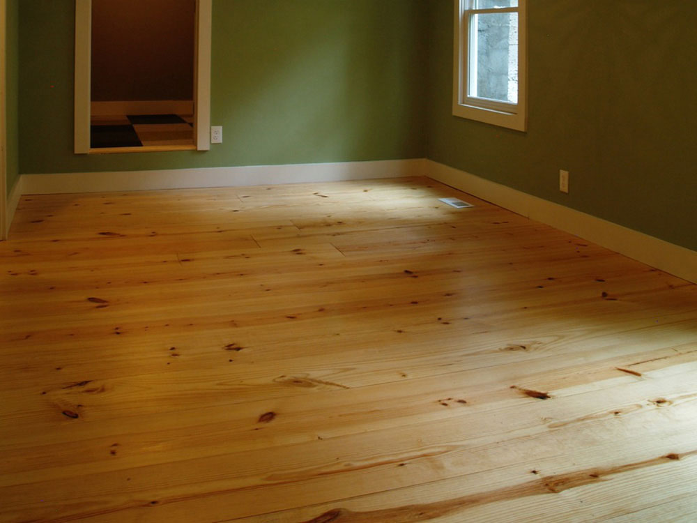 Wide Plank Southern Yellow Pine Site Finished Pine